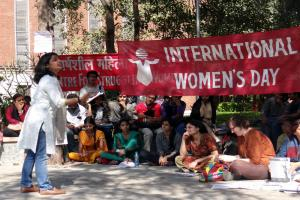 Various women groups gathered to celebrate International Women's Day