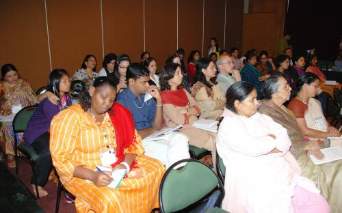 Participants engaged in dialogue and discourse